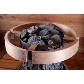 Protection circonférence poêle sauna