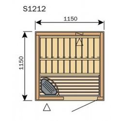 Plan sauna S1212