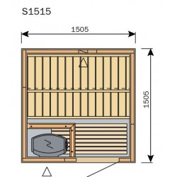 Plan sauna S1515