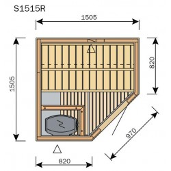 Plan sauna S1515R