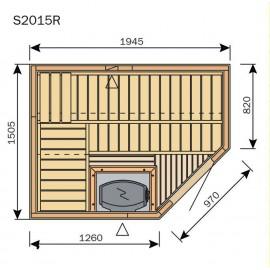 Plan sauna S2015R