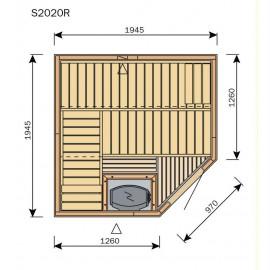 Plan sauna S2020R