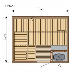 Plan sauna S2520