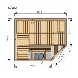 Plan sauna S2520R