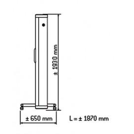 Dimensions solarium Topaz 10/1