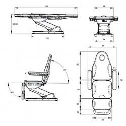 Fauteuil de soins FS30 dimensions