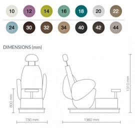 Pedispa TMV40 dimensions
