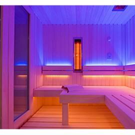 LED couleur sauna