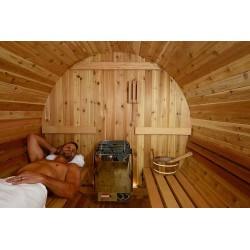Intérieur du sauna tonneau ST1