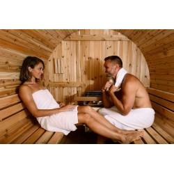 Vue intérieure du sauna tonneau ST2
