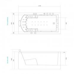 Dimensions baignoire balnéo Pro N20