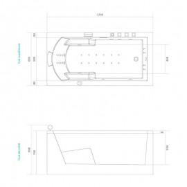 Dimensions baignoire balnéothérapie ND20