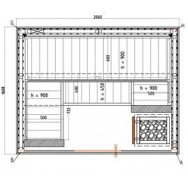 Plan sauna S1620SV