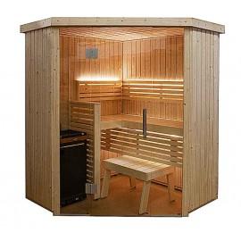 Sauna d'angle vitré S1616CV