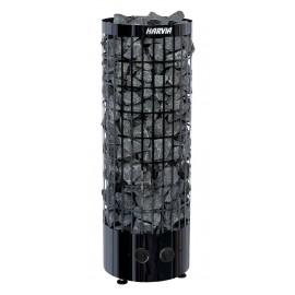 Poêle sauna Cilindro black avec commandes