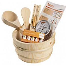Lot accessoires sauna, kit accessoires sauna
