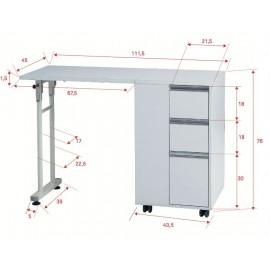 Table manucure pliable MR16