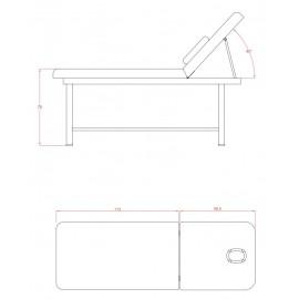 Table massage en acier TM04