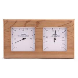 Thermo-hygro cèdre pour sauna