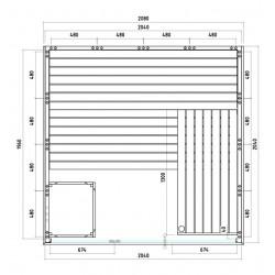 Plan du sauna massif A2020
