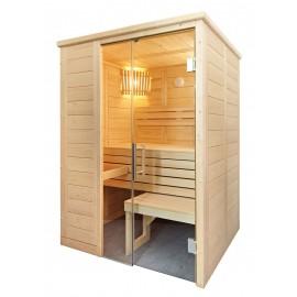 Petit sauna massif traditionnel
