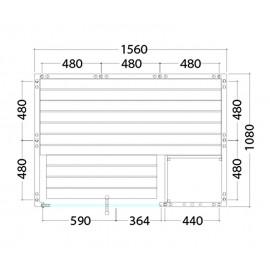Plan sauna massif 2 personnes