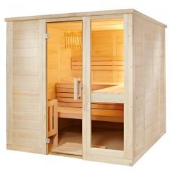 Sauna en panneaux de bois massif
