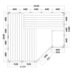 Plan sauna massif P2020