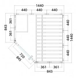 Plan petit sauna d'angle