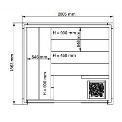 Plan 1 sauna Solid