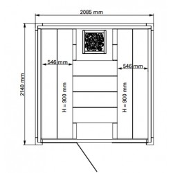 Plan 2 sauna Solid