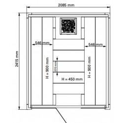 Plan 3 sauna Solid