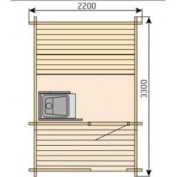 Plan sauna extérieur Kuikka