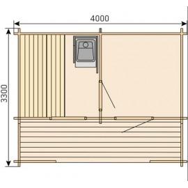 Plan sauna extérieur Keitele