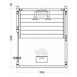 Plan sauna IR 2 places