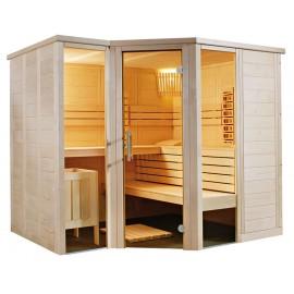 Sauna combiné traditionnel et infrarouge