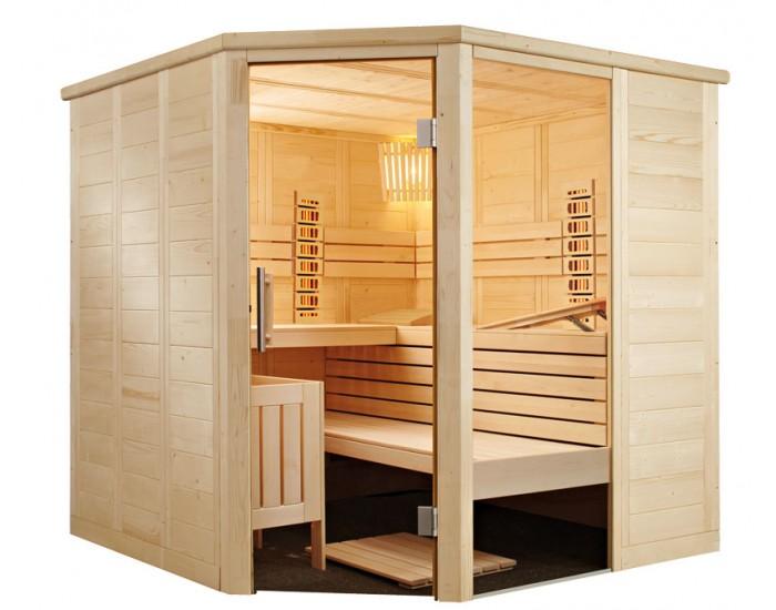Sauna combiné infrarouge et traditionnel C2020