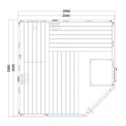 Plan sauna combiné C2020
