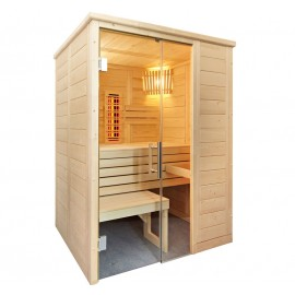 Sauna combiné infrarouge et finlandais C1510