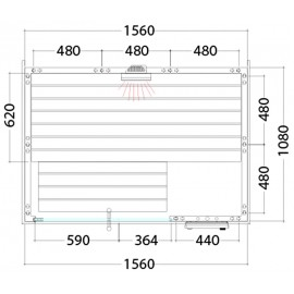 Plan sauna combiné C1510