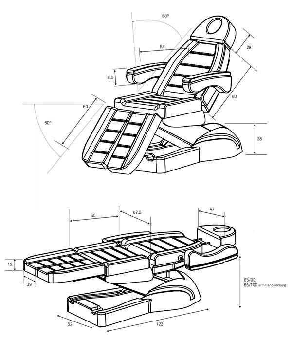 Fauteuil-FP75-dimensions