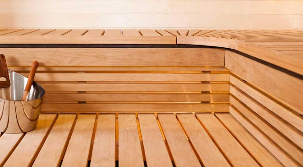 Interieur sauna solar