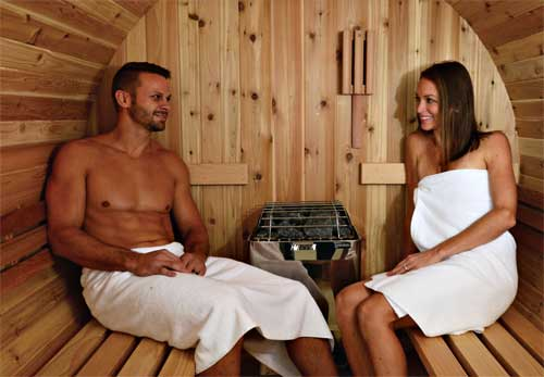 Interieur sauna tonneau