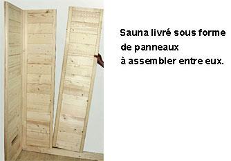 Montage sauna