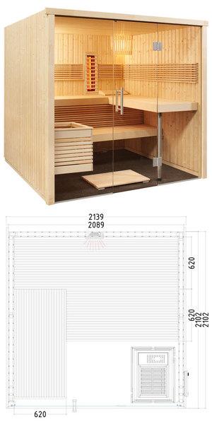 sauna combiné
