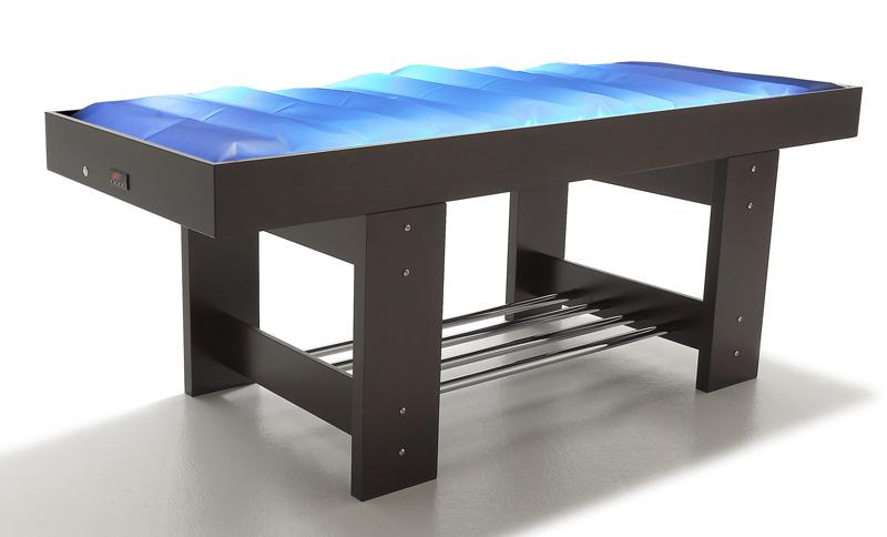 table massage matelas eau