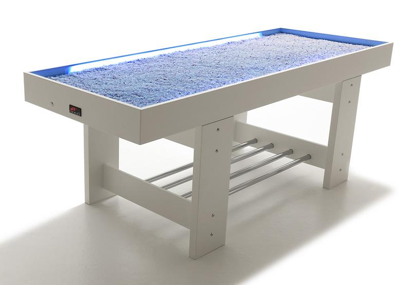 Lit table de sel massage